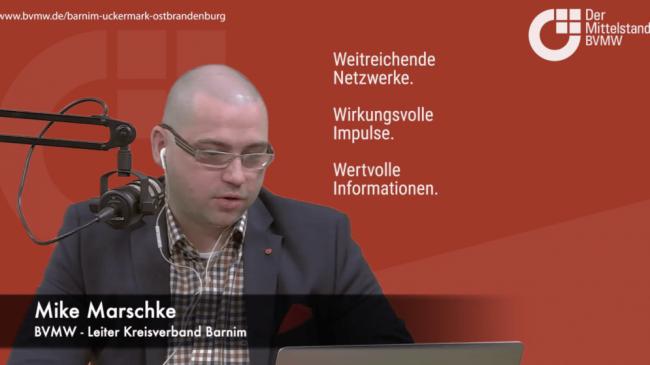 Telefoninterview mit Herrn Michael Scharf – Abteilungsleiter des Gewerbekundencenters der Sparkasse Barnim