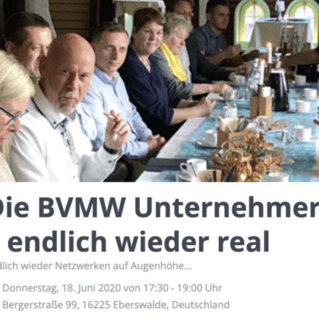 Die BVMW Unternehmergespräche | endlich wieder real