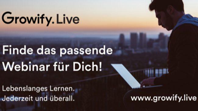 Lebenslanges Lernen gezielt und mit viel Freude? Growify.Live bietet alles, was man dazu braucht. Jederzeit und überall.