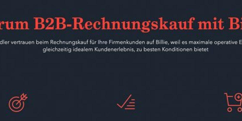 BILLIE – digitales Full-Service-Factoring